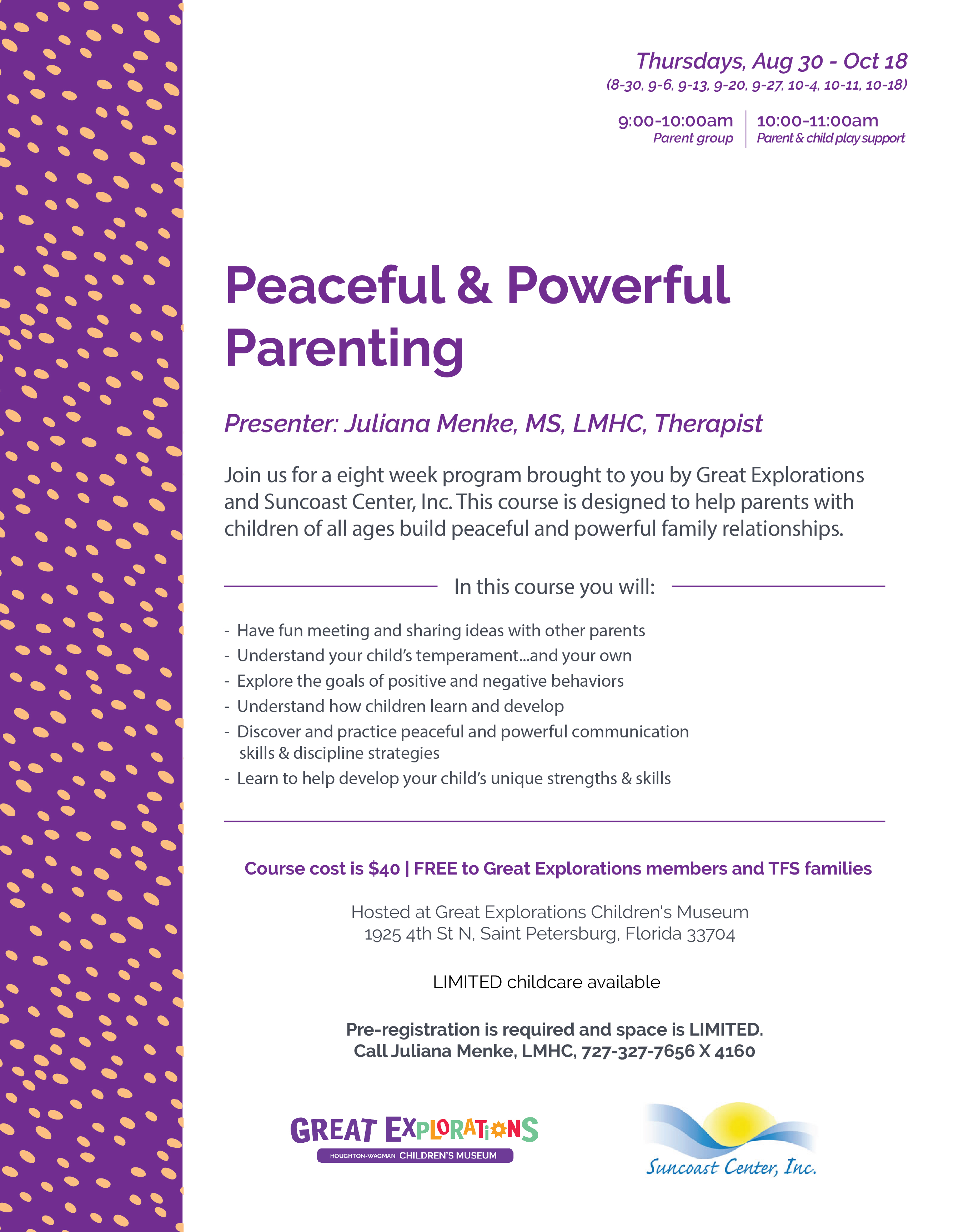 Peaceful & Powerful Parenting - Great Explorations